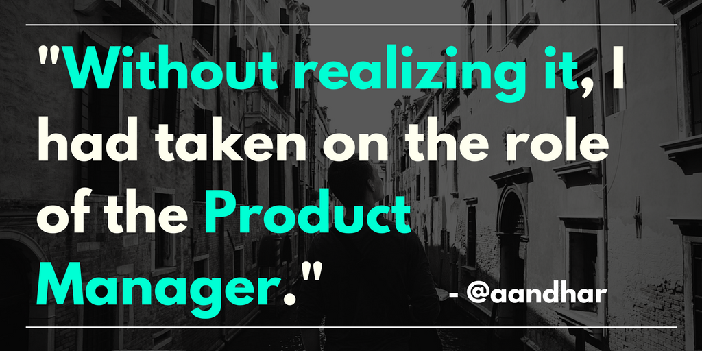 The role of the product manager