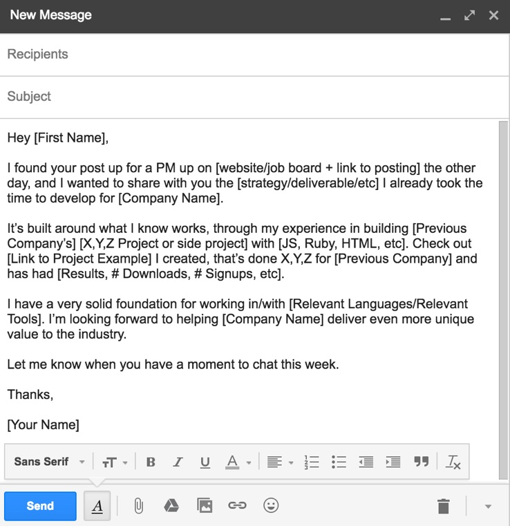 Sample email intro
